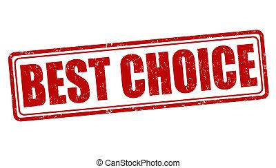 Best choice grunge rubber stamp on white, vector illustration