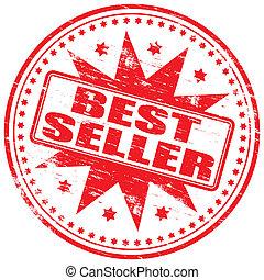"Rubber stamp illustration showing ""BEST SELLER"" text"