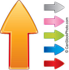 Beveled design arrow signs