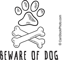 Beware of dog sketch