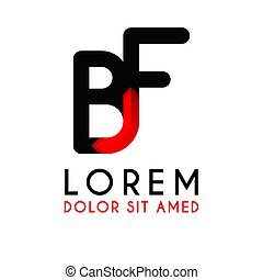BF Letter black logo with gradient arrow