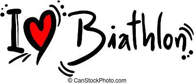 creative design of biathlon love