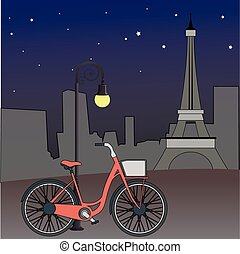 Paris views, vector illustration