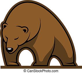 Big brown bear mascot