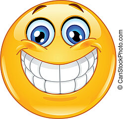 Emoticon with big toothy smile