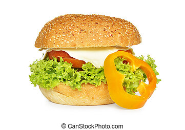 Big vegetarian sandwich