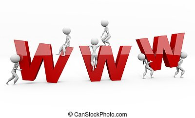 big www letters on white background with figures