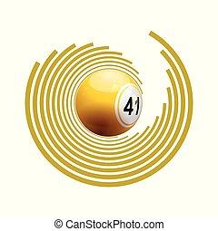 Bingo ball on circle pattern
