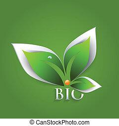 Bio green leaves