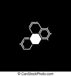 Biochemistry Icon. Flat Design. Isolated Molecule structure