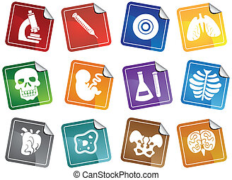 Medical themed buttons.