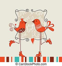 Birds romantic date