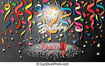 Birthday Party with celebration