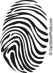 Black and White Vector Fingerprint