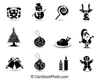 black christmas icon set