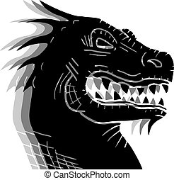 Creative design of black drafon effect