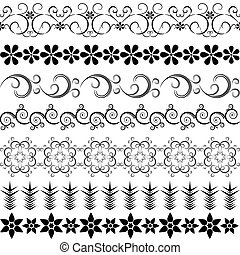 Black effortless borders at the white background (vector)