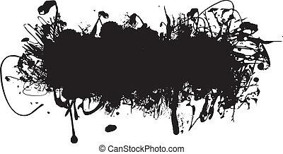 a black abstract ink splash background