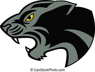 Black panther head tattoo