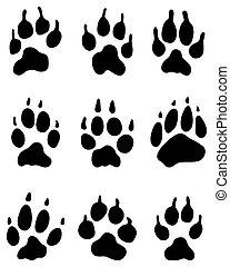 wolf paw