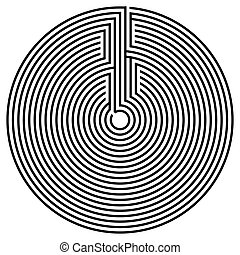 Vector spiral optical illusion in white background