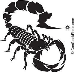 A dangerous scorpion preparing to use a stinger