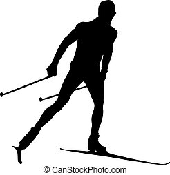 athlete cross country skier
