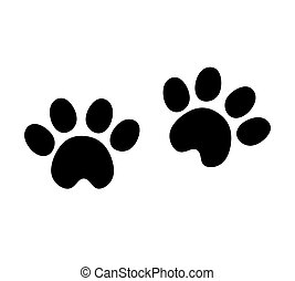 Black Vector Paw Print Silhouette Icon Drawing.Footprint,foot, footstep, animal paw mark,claw.Pet,dog,pets,doggy,kitty,puppy,pup,cat.Sticker.Laser plotter cutting design.I love dogs,cats.T shirt.Decor