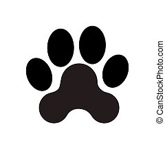 Black Vector Paw Print Silhouette Icon Drawing