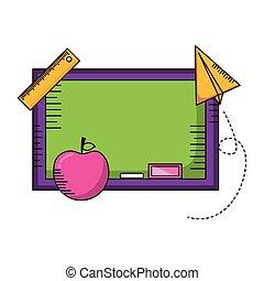 blackboard apple school supplies