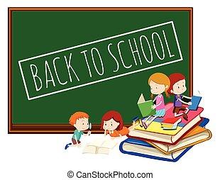 Blackboard back to school template