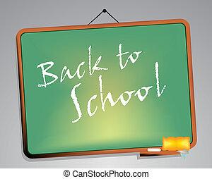 Blackboard. Back to school