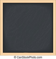 Black blackboard on white background, vector eps10 illustration