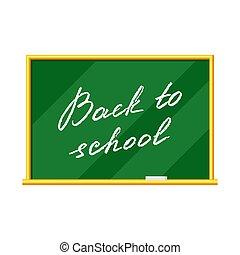 Blackboard illustration. Back to school lettering.