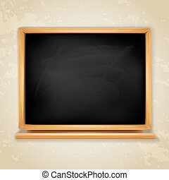 blackboard on grey