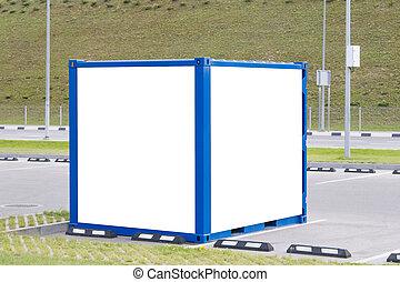 Blank billboard and outdoor advertising. Mock up