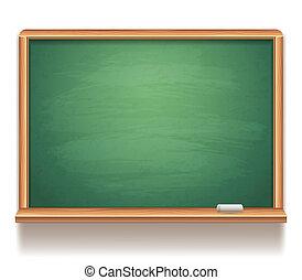 Blank blackboard.