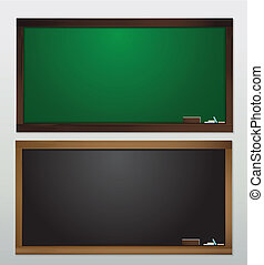 Blank Blackboard Vector template for design work