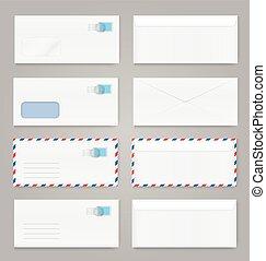 Blank envelopes set