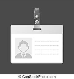 Blank Identification Card Badge ID Template. Vector Illustration