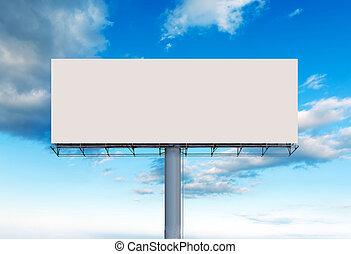 Blank outdoor billboard