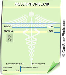 Blank prescription form -customize with doctors name