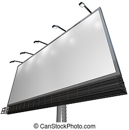 Blank White Sign - Advertisement of Product on Billboard