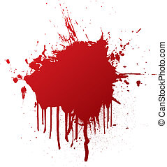 blood splat with dribble that can be used as a background