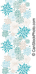 Vector blue and gray plants vertical seamless pattern background