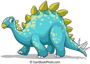 Blue and green dinosaur