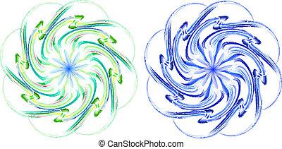 Blue and green vortex