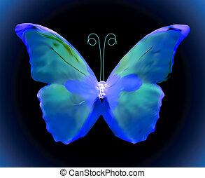 Blue butterfly. Vector