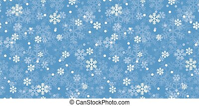 Blue Christmas snowflakes repeat pattern