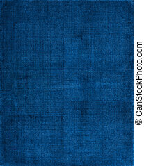 A vintage cloth book cover with a blue screen pattern and grunge background textures.